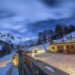 Vista notturna sul Monte Chersogno dall'agriturismo