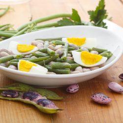 insalata di fagiolini fagioli e uova cucina occitana agriturismo al chersogno